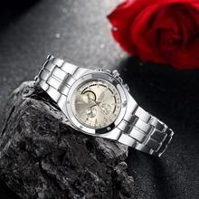 Minimalist Bracelet Watch Women Silver 3 Eyes Fashion Simple Ladies Quartz Watch Female Steel Dress Wrist Watch Brand Luxury