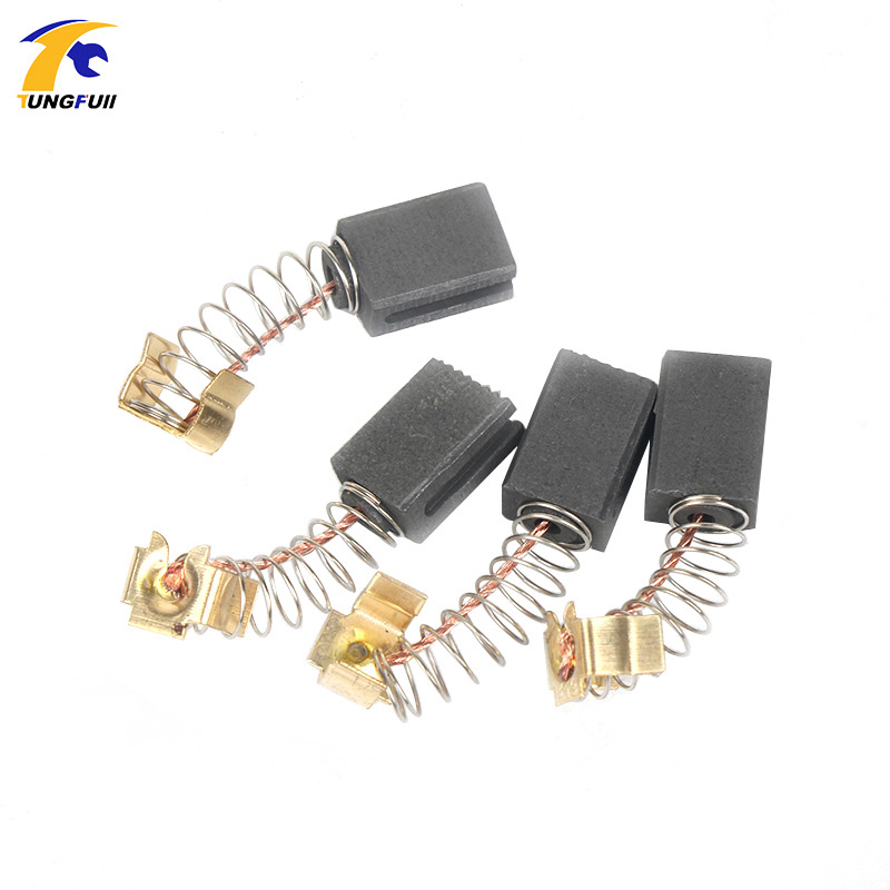 TUNGFULL 6Pcs Mini Drill Electric Grinder Replacement Carbon Brushes Spare Parts For Electric Motors Rotary Parts 6*9*13.5mm