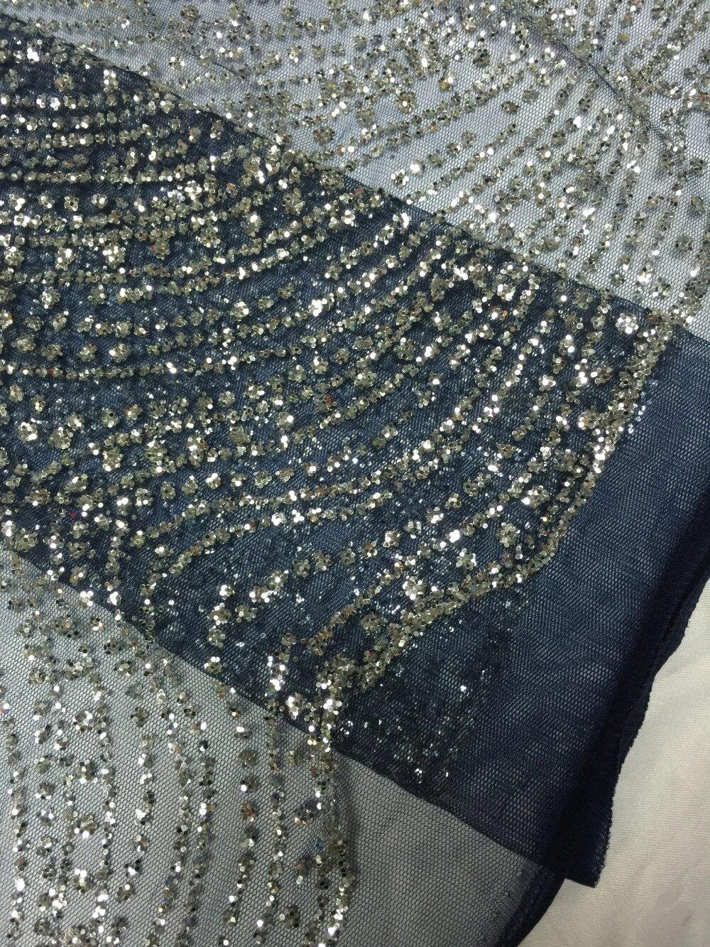 R 22562 35 De Desconto2017 De Alta Qualidade Tule Francês Lace Tecido Africano Glitter Lantejoulas Glitter Tecido De Renda Líquida Para O Vestido
