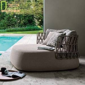 Braided Outdoor Wicker Sofa-Set/all-Weather Only Tahiti-Style Weeks-Delivery Resin Woven/sea-Shipment