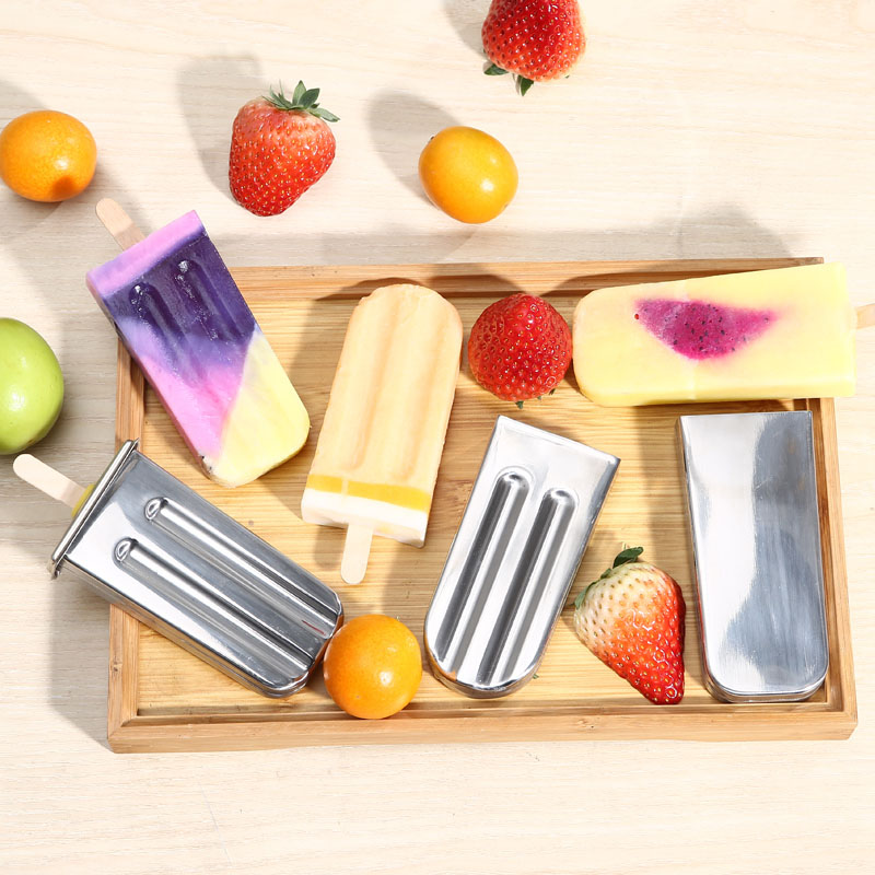 Hot New Stainless Steel DIY Ice Lolly Stick Maker Mold Ice Cream Moulds Reusable Tool FP8