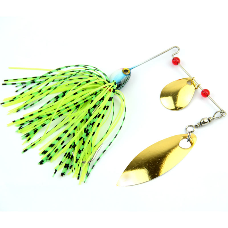 Mixed color plastic spinner fishing lures bass crankbait for Bass fishing lure kits