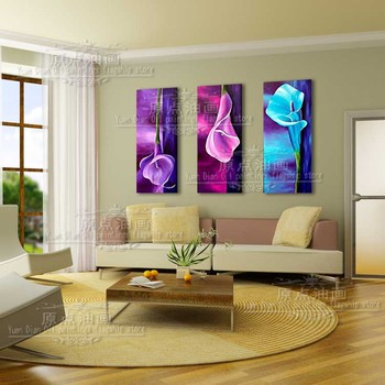 Colorful  Flower Wall Picture Handmade Hand painted Oil Painting On Canvas For Living Room Hanging Art Painting