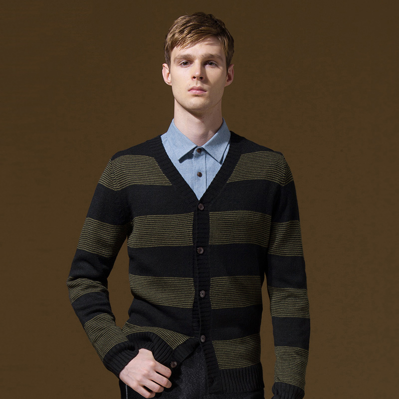 Brand Clothing font b Sweater b font font b Men b font Slim Single Breasted Thin