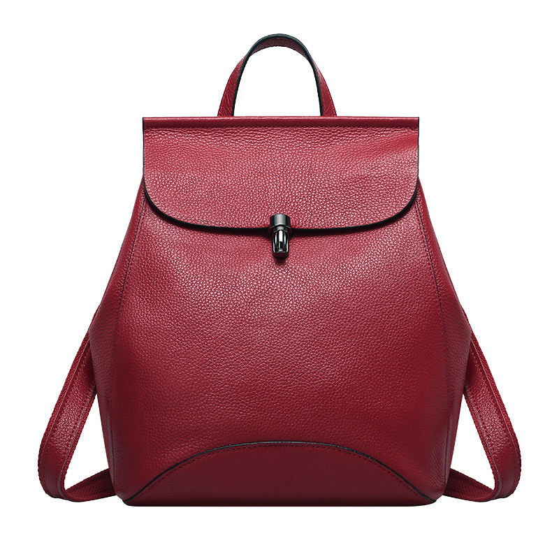 New Deisgn Genuine Leather Backpack Female School Bags for Adolescent Girls Mini Bagpack Women Solid Real Leather Sac A Main new arrival women genuine leather backpack young lady real leather backpack luxury female school bags with simple design e143