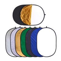60x90cm/90*120cm/ 7 in 1 Multi Disc Photography Studio Photo Oval Collapsible Light Reflector handhold portable photo Reflector