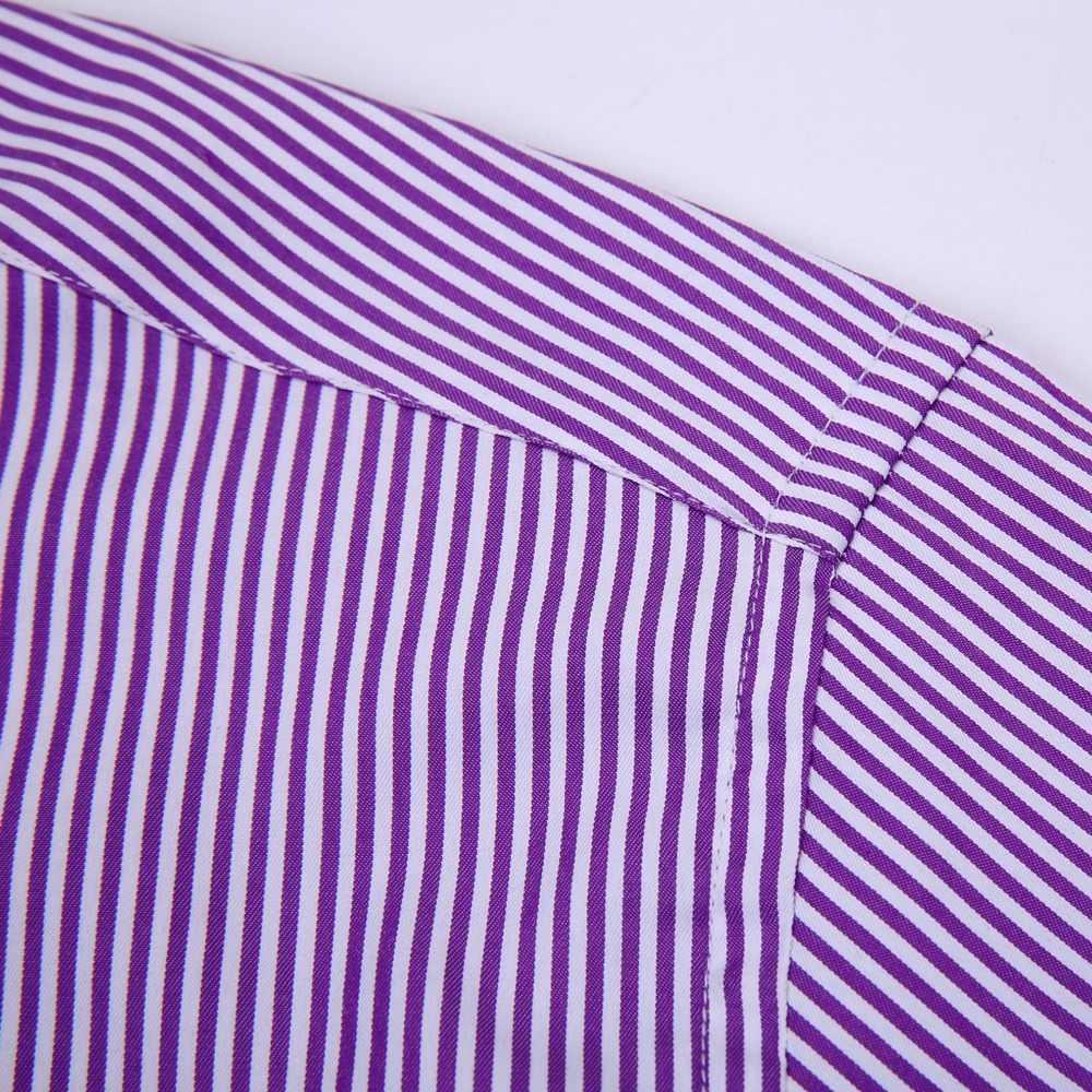 Camisa de manga larga informal para hombre, manga larga, manga larga, camisas de vestir (gemelos incluidos)
