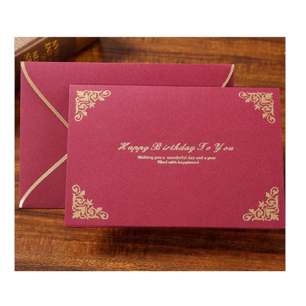 Customized Birthday card gilt invitation card mother plot card staff ...