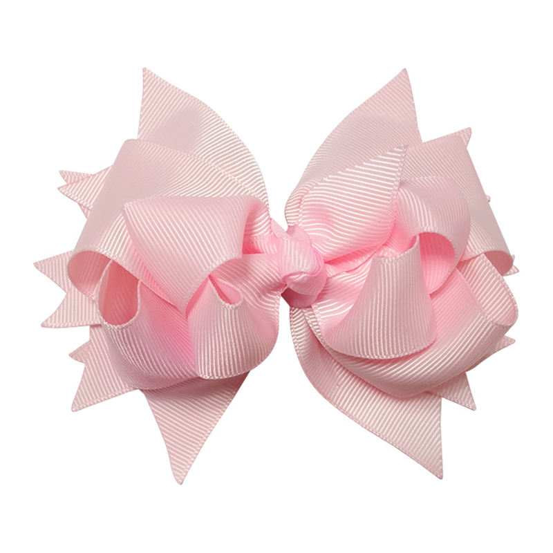 1Pcs Pink 5inches Bow Hairgins Girls Ribbon Hair With Clip Boutique Hair Bows Children Headwear For Kids Hair Accessories halloween party zombie skull skeleton hand bone claw hairpin punk hair clip for women girl hair accessories headwear 1 pcs
