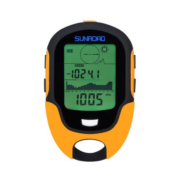SUNROAD 남자 디지털 스포츠 시계-하이킹 시계 고도계 기압계 포켓 기압계 나침반 Reloj Hombre 손목 시계