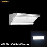4 Modi Super Helle 900LM 48 LED Wasserdicht Solarbetriebene led solarleuchten Straße Licht Yard Pfad Hausgarten Sicherheit lampe