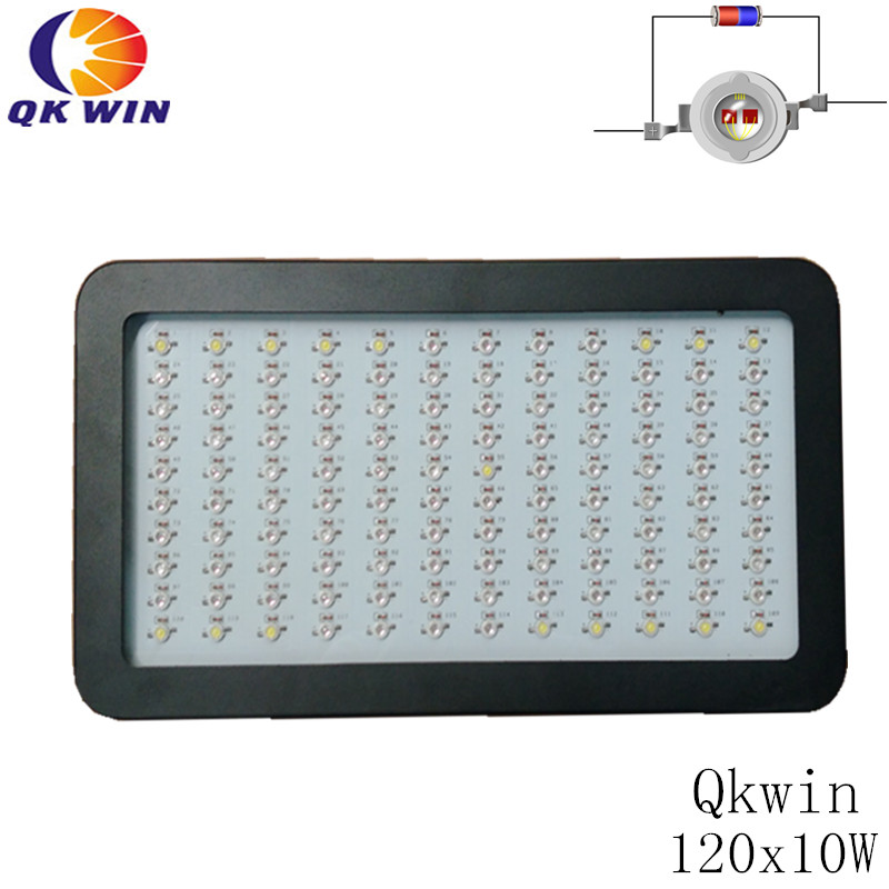 Qkwin 1200W LED Grow Light 120x10W Full Spectrum LED Grow Lights For Indoor Plants Flowering And Growing цена