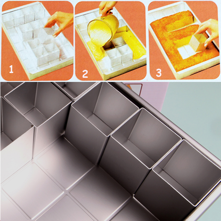 Trendy Alphabet Any Number Letter Cake Pan Tin Set As You