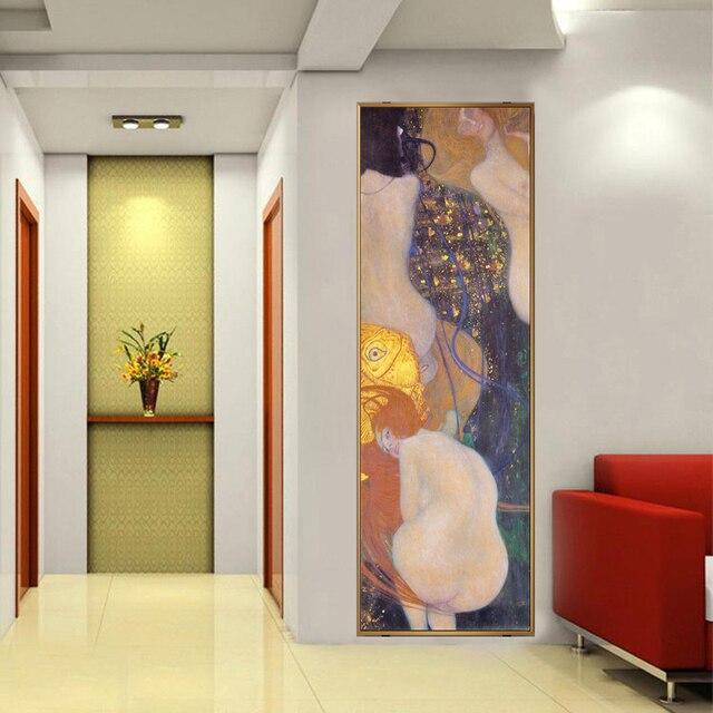 Gustav Klimt Goldfisch Gemälde Auf Die Wand Reproduktion Gustav Klimt Wand Kunst Leinwand Cuadros Bild Für Wohnzimmer Wand Dekor