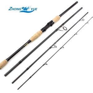 High Quality Fishing Rod 2.1m 2.4m 2.7m 4 Sections M Power 12-25lb Carbon Fiber BaitCasting Fishing Rod Travel Rod Free shipping