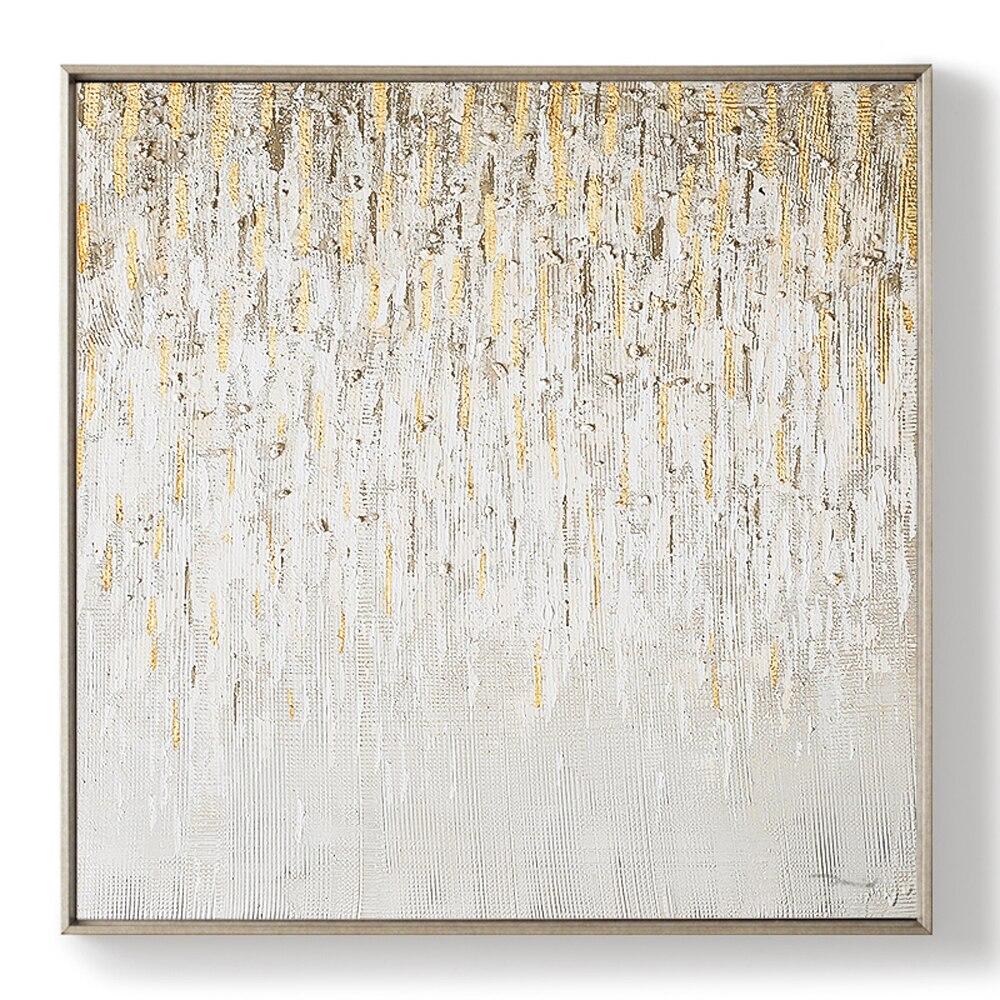 square design hand oil painting modern wall art length 90cm