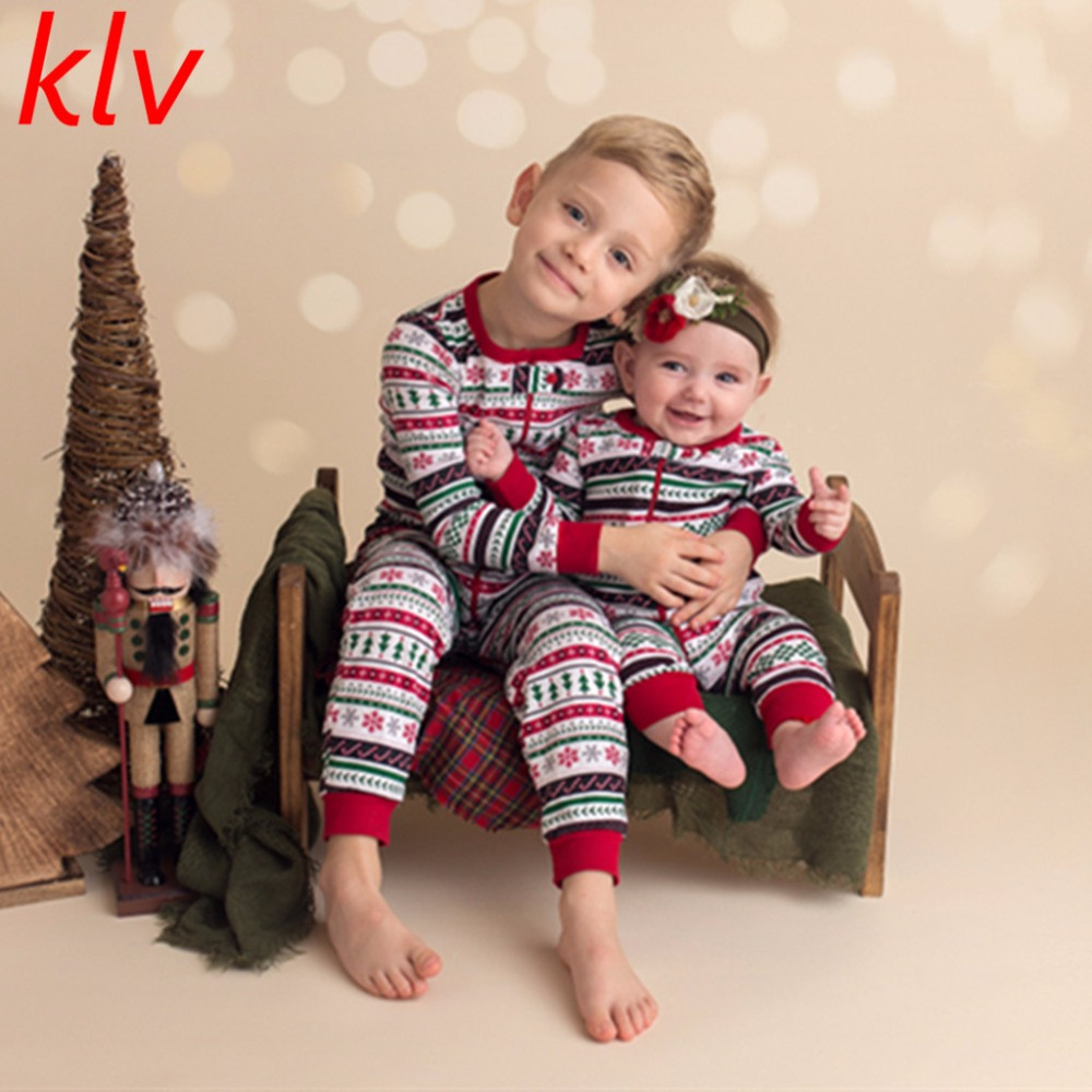 Newborn Infant Baby 2pcs Set Christmas Outfit Top+Striped Long Pants Baby Boy Girl Costume Christmas Clothes