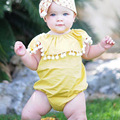 baby girl summer bodysuit yellow sleeveless clothes kids clothing infant cotton jumpsuit baby clothes newborn outerwear clothes