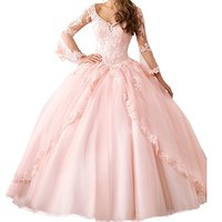 2017 New Crystals Sweetheart Sweet 16 Quinceanera Dresses Ball Gowns Lace Up Back Pink Cascading Ruffled
