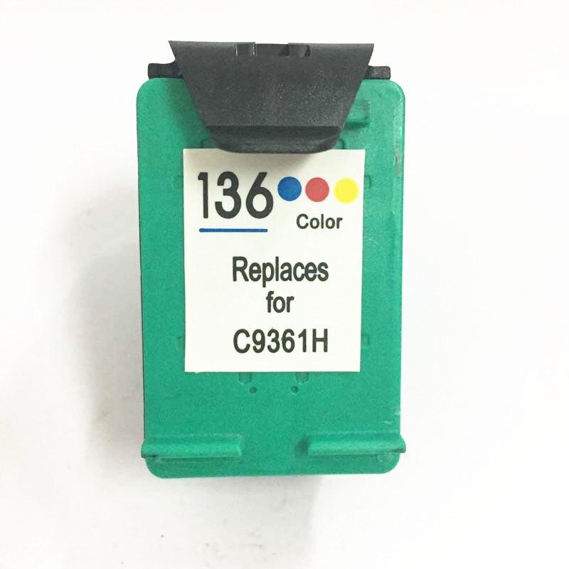 Einkshop 136 cartouche d'encre Compatible remplacement pour hp 136 Deskjet 5443 D4163 6213 Photosmart 2573 C3183 D5163 PSC 1513