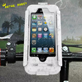 Lujo impermeable universal bici de la motocicleta manillar de la bicicleta holder soporte armor caja del teléfono para iphone 7 al aire libre/6 s plus/se/5S/5