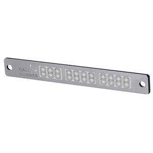 Image 5 - 1 Pc Lichtgevende Telefoonnummer Kennisgeving Auto Tijdelijke Parkeerkaart Sukkels Night Auto Sticker Interieur Auto Producten Accessoires