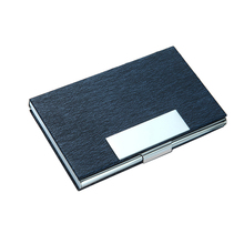 Wholesale New Business ID Credit Card Holder For Women Fashion Brand Metal Aluminum Case PU Leather Porte Carte