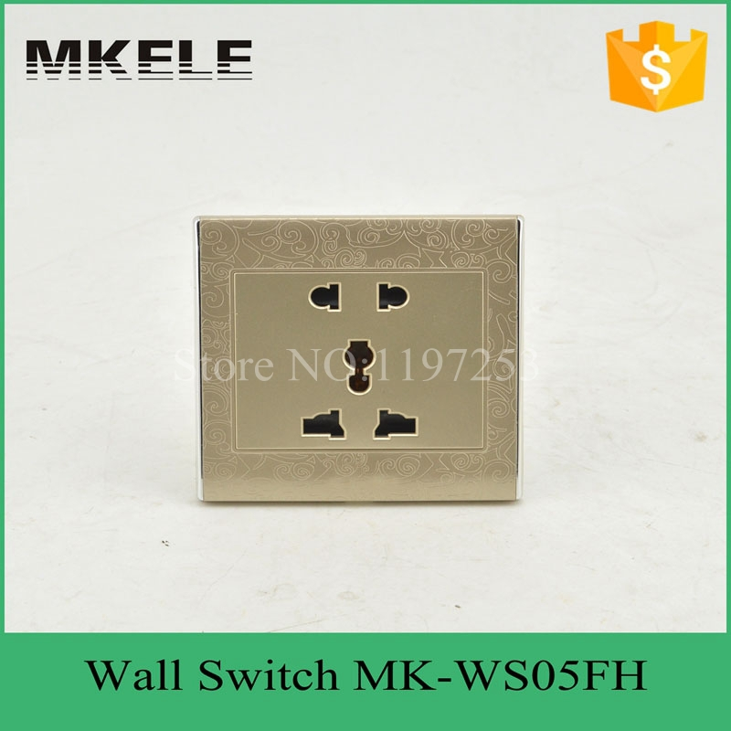 MK-WS05FH cheap British standard wholesale hotel useful 2 pin and 3 pin socket wall mount switch and socket for OEM ODM british mk british unit power supply socket metal 13a power outlet british standard unit socket