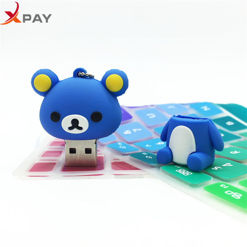 Image 4 - Usb 2.0 Lovely Bear Usb Flash Drive 32GB Silicone Pen Drive real capacity 4GB 8GB 16GB Memory Stick 64GB 128GB Pendrive for gift-in USB Flash Drives from Computer & Office