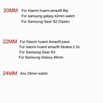 HANGRUI Nylon canvas Strap for Xiaomi huami Amazfit stratos 2 Bip PACE Youth bracelet wrist Band for Samsung Gear S3 S2 Strap