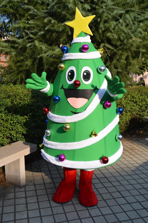 Christmas mascot costumes star decoration Christmas tree ...
