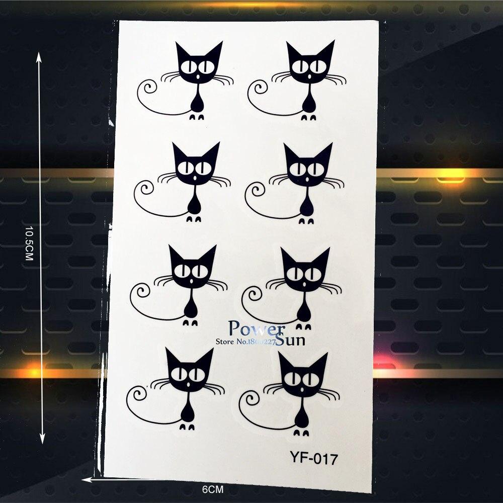 Lovely Black Cat Temporary Tattoo Stickers Kids BOdy Arm Tatoo Art Paste, Party Jewelry Waterproof Tattoo Stickers