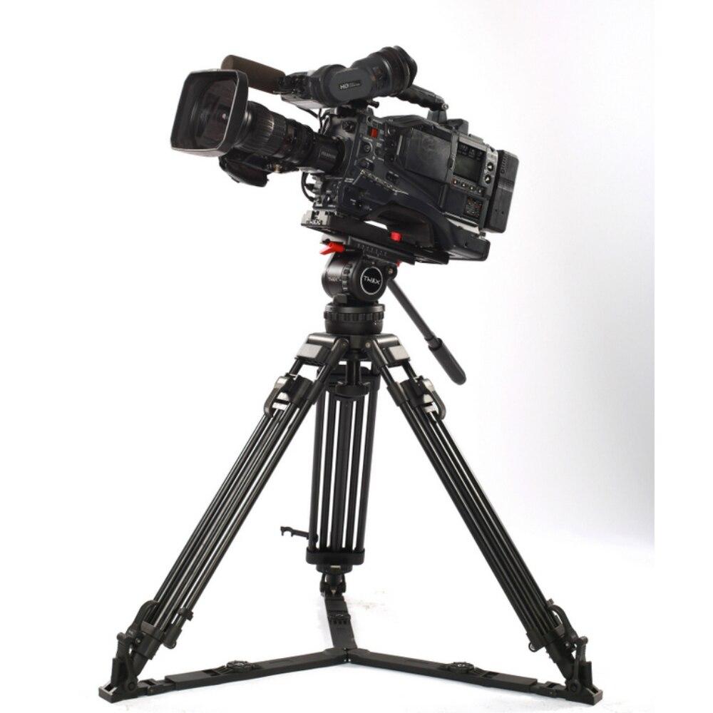 66 V12L PLUS Pro Kit Tripé de Câmera de Vídeo Filmadora Tripé w/fluido cabeça 12 kg de alumínio para tilta rig red scarlet epic FS700
