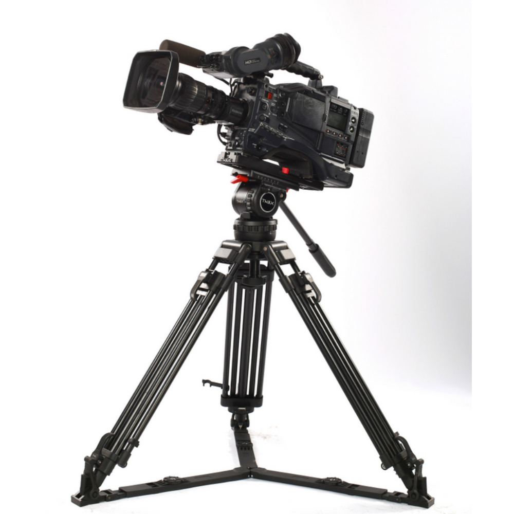66 V12L PLUS Pro Video Camera Tripod Kit Camcorder Tripod w/ Fluid Head 12KG Aluminum FOR TILTA Rig Red Scarlet Epic FS700