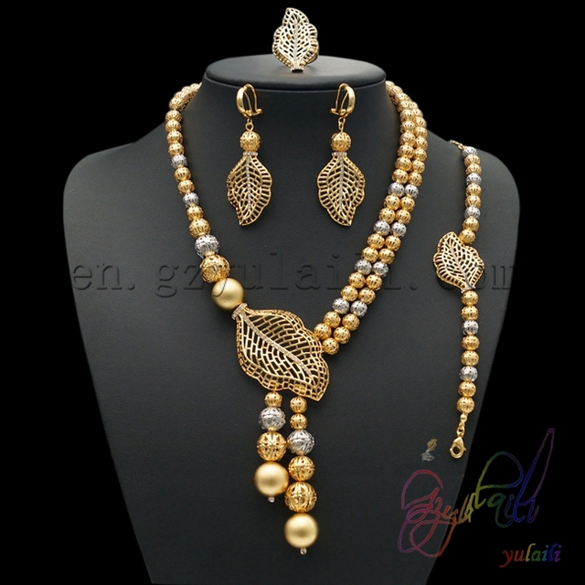 Free shipping Gold plated jewelry in china Women gift set Gold