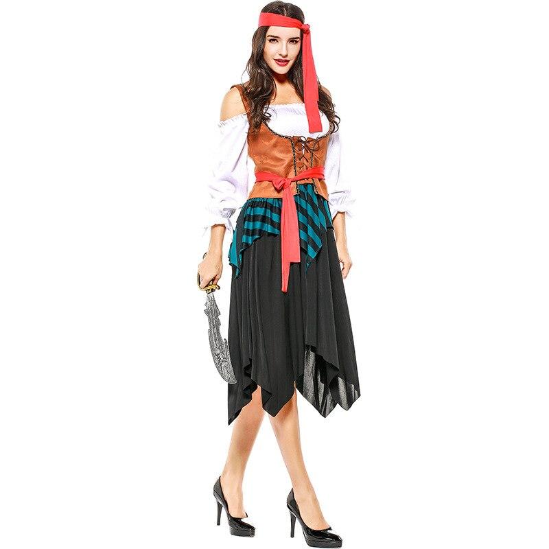Halloween Piratdräkt Kvinnor Fancy Dress Cosplay Kvinnor Pirat - Maskeradkläder och utklädnad