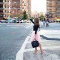 Hot Sale Pink Tulle Skirt A Line Knee Length Skirt Fashion Spring Summer Women Skirt