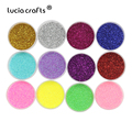 Lucia crafts 12pcs/set 1mm Colorful Sequins Sand Glitter Powder DIY Drawing Headdress Nail Art Decor Accessories 043007029