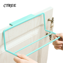 CTREE 1Pcs Single/Double Pole Nailless Bathroom Towel Rack Kitchen Debris Tack Wardrobe Dtorage Home Daily Storage C691
