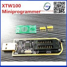 1pcs best quality XTW100 mini programmer USB Motherboard Multifunctional BIOS SPI FLASH 24 25 Read / write Burner