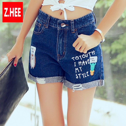 Aliexpress.com : Buy 2015 Summer Style Cute Print Denim Shorts ...