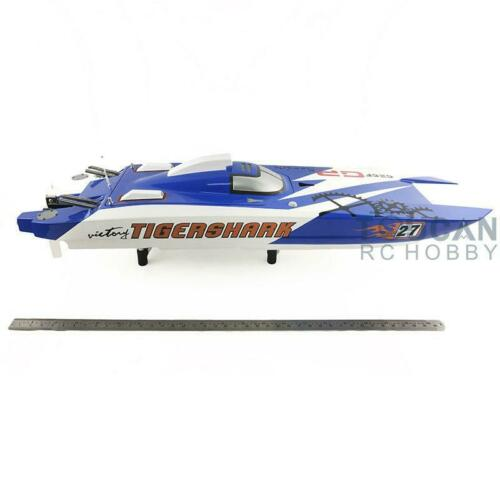 1305MM E52 Bumblebee Electric Racing RC <font><b>Boat</b></font> <font><b>Model</b></font> KIT <font><b>Hull</b></font> Only DIY Hobby Blue TH13491 image