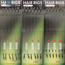 Easy Catch 18pcs Carp Fishing Hair Rigs Braided Thread 8340 Hooks Swivel Boilies Carp Rigs Carp Fishing Accessories(China)