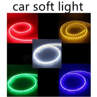 120cm 12V Car Motorcycle Auto Waterproof Flexible LED Strip Light High Quality 5W 2 Pieces High