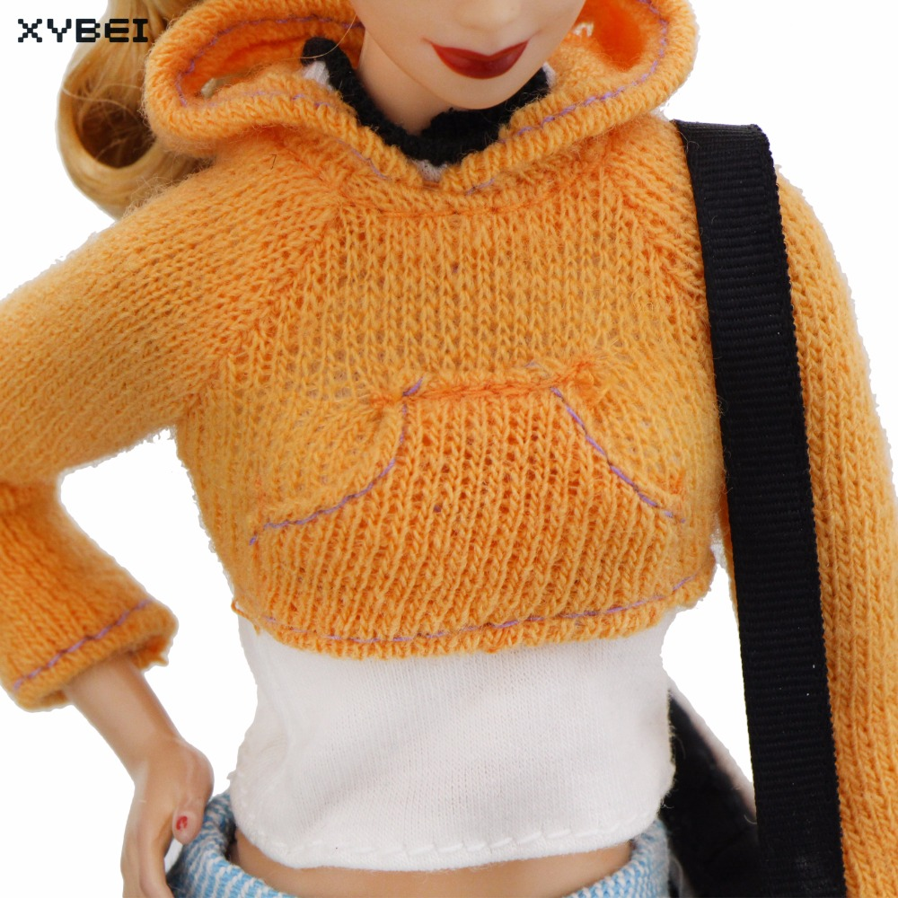 Oranje Trui.Handgemaakte Winter Outfit Oranje Trui Shirt Blauw Broek Broek
