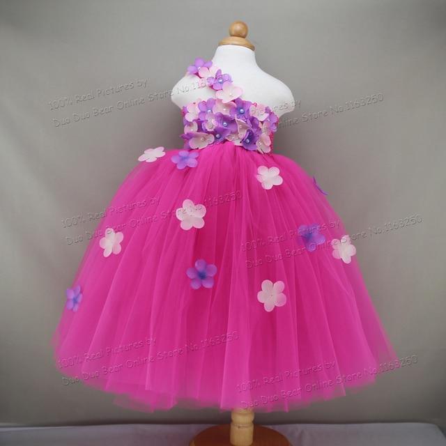 Blumenmädchen Kind Prinzessin Kleid 1 Jahr Geburtstag Partei Baby ...