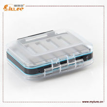 Free Shipping ilure Fly Fishing lure Box Tackle Slit Foam Double Sided High Strength Transparent Visible Drain Hole Waterproof