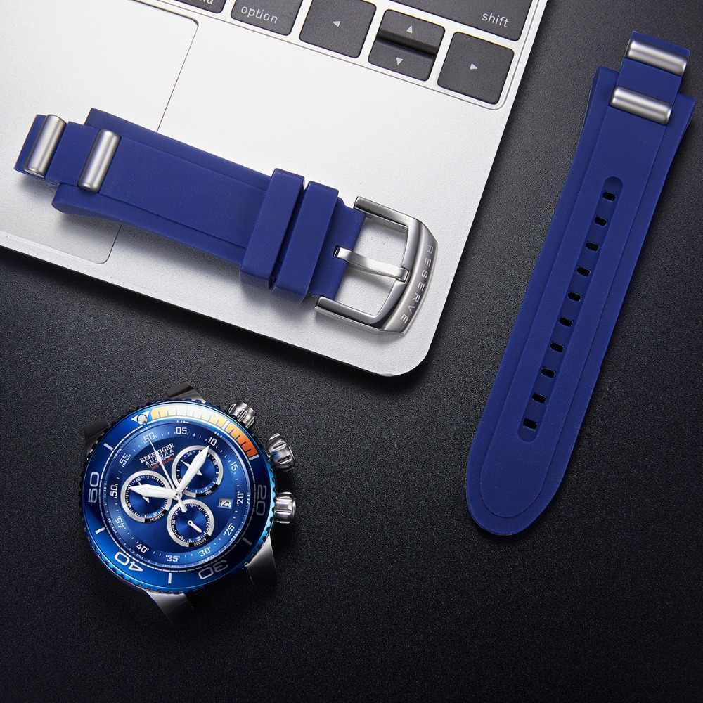 שונית טייגר/RT יוקרה כחול ספורט שעונים Mens מים עמיד נירוסטה אופנה צבאי שעונים Relogio Masculino RGA3168