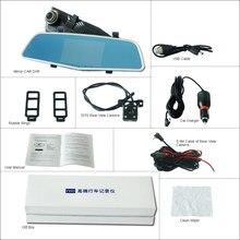 For hyundai solaris Car Rearview Mirror Video Recorder Car DVR FHD 1080P Dual Camera Novatek 96655 5″ IPS Screen Car Black Box