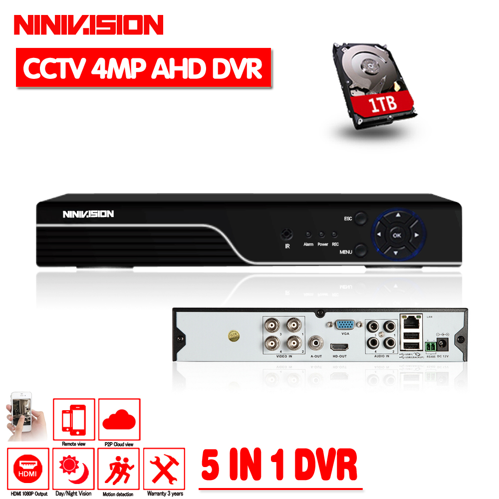 5 in 1 Security CCTV DVR 4CH 8CH AHD 5MP 4MP 3MP 1080P H.264 Hybrid Video Recorder for AHD TVI CVI Analog IP Camera Onvif IP 5MP